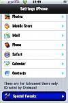 Super Prefs en artwork mod, let op de kleine iconen en de selectie balk kleur.